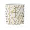 Waxinelichthouder in wit/goud geometrisch