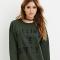 Donkergroene sweater
