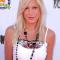 '90210'-actrice Tori Spelling VOOR
