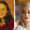 Emilia Clarke als kind en als Daenerys Targaryen