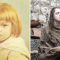Maisie Williams als kleuter en als Arya Stark