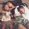 North en Saint, het dochtertje en zoontje van Kim Kardashian en Kanye West