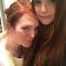 Julianne Moore en haar dochter Liv
