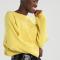 Pull cropped jaune