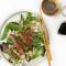Maandag: Aziatische noedels met stukjes biefstuk