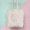 Tas van organisch katoen met opschrift 'Boy Bye'