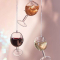 Kerstdecoratie wijnglas