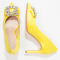 Escarpins à bijoux jaunes