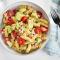 Woensdag: pastasalade met avocado en ham