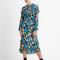 Midi-jurk met bloemenprint
