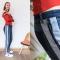 DYI jeans met gepimpte zijnaden
