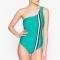 Maillot one shoulder couleur vert d'eau