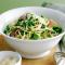Donderdag: spaghetti met erwten en lente-uitjes