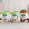 Vegan Alpro-ijs in kokosnoot, vanille en hazelnoot-chocolade