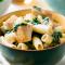 Maandag: rigatoni met kip, kokos en spinazie