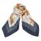Zijden sjaal met tijgerprint