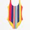 Maillot à bandes multicolores