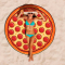 Pizzastrandlaken