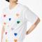 T-shirt van organisch katoen met hartjesmotief
