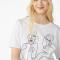 T-shirt van organisch katoen met tekening