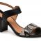Zwarte sandalen met pythonmotief