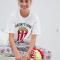 Wit-grijze pyjama met popcorndoosjes