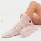 Roze sokken met pompons