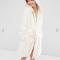 Witte badjas met berenoortjes