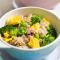 Dinsdag: nasi goreng met broccoli, ham en ei