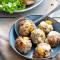 Pompoen-pistachegehaltballetjes met mozzarella