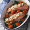 Donderdag: ovengebakken zalm met fetakorst en spinazie