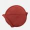 Cirkelvormige crossbody bag in terracotta