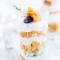 Salade van gerookte zalm in glaasjes