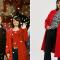 Rode mantel net als Natalie uit 'Love Actually'