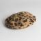 Wollen baret met luipaardmotief
