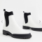 Witte Chelsea boots in suède