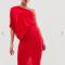 Asymmetrische mini-jurk met kokerrok