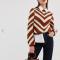 Beige-roestkleurige trui met ballonmouwen