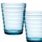 Set van twee glazen