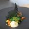 Dorade, risotto de pomme de terre safran, carottes, épinards et mousseline aux épices