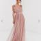 Maxi-jurk in tule met tailleband
