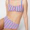 Tricolor bikini strepen