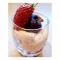 5. Griekse yoghurt met aardbeiencoulis en granaatappelpitjes