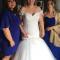 De bruid met haar bruidsmeisjes