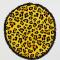 Rond strandlaken in luipaardprint
