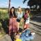 Flairmodellen voor één dag: redactrice Elien, redactrice Charlotte, Hinda en Christina (aka Chrostin).