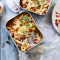 Macaroni met kaassaus, gehakt en verse tomatenblokjes