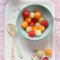 Meloensnacks met zoete siroop