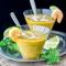 Tomates jaunes, crevettes, citronnelle, piment