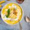 Maïs, haricots blancs et poivron jaune